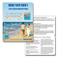14 Pt. Bi-Fold Laminated Plastic Wallet Card