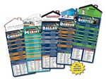 Magna-Card House Shaped Magnet Football Schedules (3.5