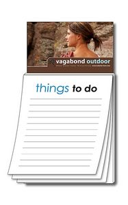 Magna-Pad Business Card Magnet w/Stock Things To Do Notepad