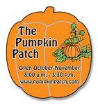 20 Mil Coated Pumpkin Shape Magnet