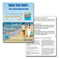10 Pt. Bi-Fold Coated (C1S) Plastic Wallet Card