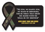 20 Mil Coated Rectangle w/Awareness Ribbon Side Magnet
