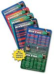 Custom 30 Mil Magnet Football Sport Schedule w/ Round Corners (4