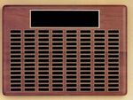 Custom Roster Series Walnut Plaque w/ 24 Individual Black Brass Plates (11