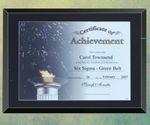 Custom Black Glass Certificate Plaque - 11