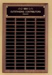 Custom Perpetual Series Walnut Plaque w/ 60 Individual Plates (16