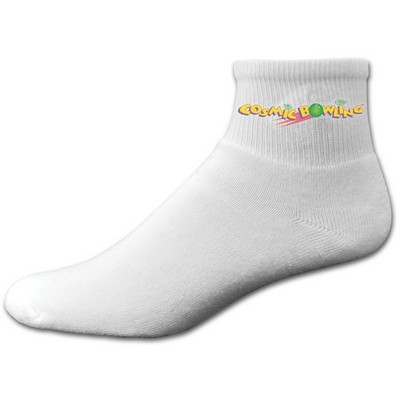 Cotton Anklet Sock with Printed Applique