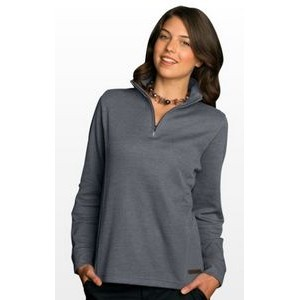 Women's 1/4-Zip Flat-Back Rib Pullover Sweater