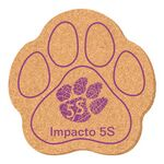 "5"" X 5"" Paw Shape Solid Cork Coasters"