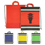 Custom Drawstring Backpack - Non-Woven Reflective Drawstring Bags