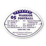 Football Stock Shape Vinyl Magnet - 30mil