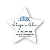 Star Shape Paper Hand Fan W/out Stick