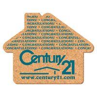 "Coaster - 4"" House Shape Cork Coasters"