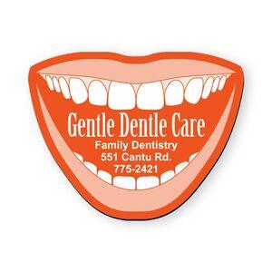Custom Printed Dentist Smile Card Stock Shaped Magnets