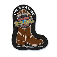 Cowboy Boot Shape Paper Hand Fan W/out Stick