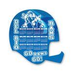 Custom Football Helmet Shape Custom Printed Calendar Sheets (8