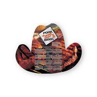 Cowboy Hat Shape Paper Hand Fan W/out Stick