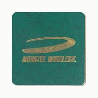 "Coaster - 3.5"" Square Leatherette Coaster"
