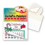 Custom Cargo Van Shape Calendar Pad Sticker W/Tear Away Calendar