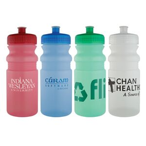 Sports Bottle - 20 Oz Plastic Fitness Water Bike Bottles