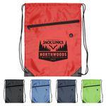 Custom Drawstring Sports Bag with Front Zipper