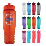 Custom Sports Bottle - 28 Oz Plastic Fitness Water Bike Bottle