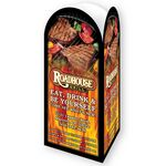 Custom 3 Panel Advertising Table Tent with a Round Top Custom Printed (8 1/2