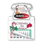 Custom Telephone Shape Calendar Pad Magnets W/Tear Away Calendar