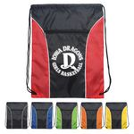 Custom Drawstring Backpack - Two Tone Polyester Drawstring Bags