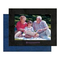 "4"" X 6"" Leatherette Photo Frame with Custom Imprint"
