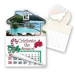 Custom House Shape Calendar Pad Sticker W/Tear Away Calendar