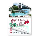 Custom House Shape Calendar Pad Magnets W/Tear Away Calendar