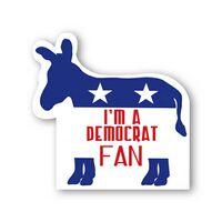 Donkey Democrat Shape Paper Hand Fan W/out Stick