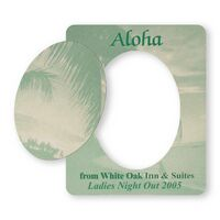 Picture Frame w/ Oval Shape Cut-Out Vinyl Magnet - 20mil