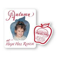 Picture Frame w/ Apple Cut-Out Vinyl Magnet - 20mil
