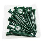 Golf Tee Poly Packet with 20 Tees & 2 Ball Markers