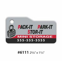 "Stock Shape Over-Lam Key Tags - 20 Mil (2 3/8"" x 1 1/4"")"