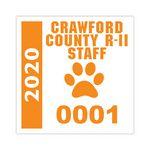 Custom V-T Clear Static Cling Square Cut Parking Sticker (3