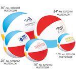 Custom Classic Multi Color Inflatable Beach Ball (10