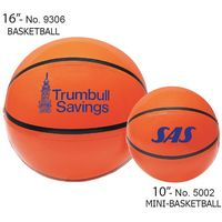 "10"" Inflatable Sport Beach Mini-Basketball"