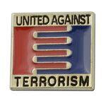 Custom United Against Terrorism Lapel Pin