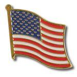 Custom US American Flag Lapel Pin