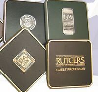 "Executive Square Coaster W/1/4"" Die Struck Emblem"
