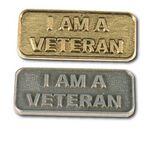 Custom I Am A Veteran Stock Lapel Pin
