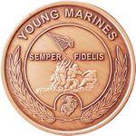 "1 5/16"" 14 Gauge Bright Copper Coin & Medallion"