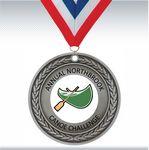 Custom 4 inch Silver Insert Medal
