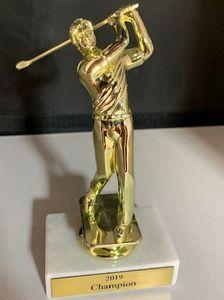 Golf Trophy On Marble Base