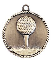"2"" High Relief Medal-Golf"