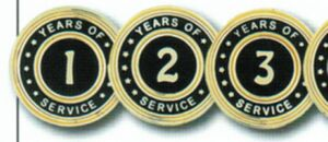 Years of Service Cloisonne Pin