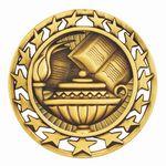 Custom Lamp Of Knowledge Medal